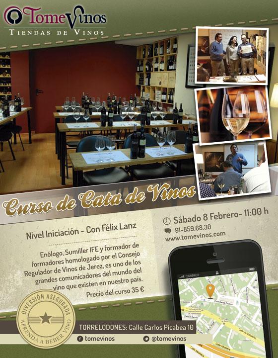 Curso de cata de vinos en TomeVinos Torrelodones