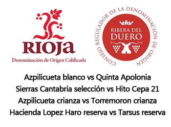 Vinos de Ribera del Duero contra vinos de la Rioja en TomeVinos Europolis
